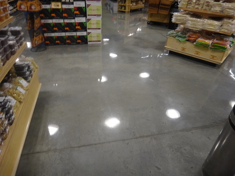 shiny concrete floor